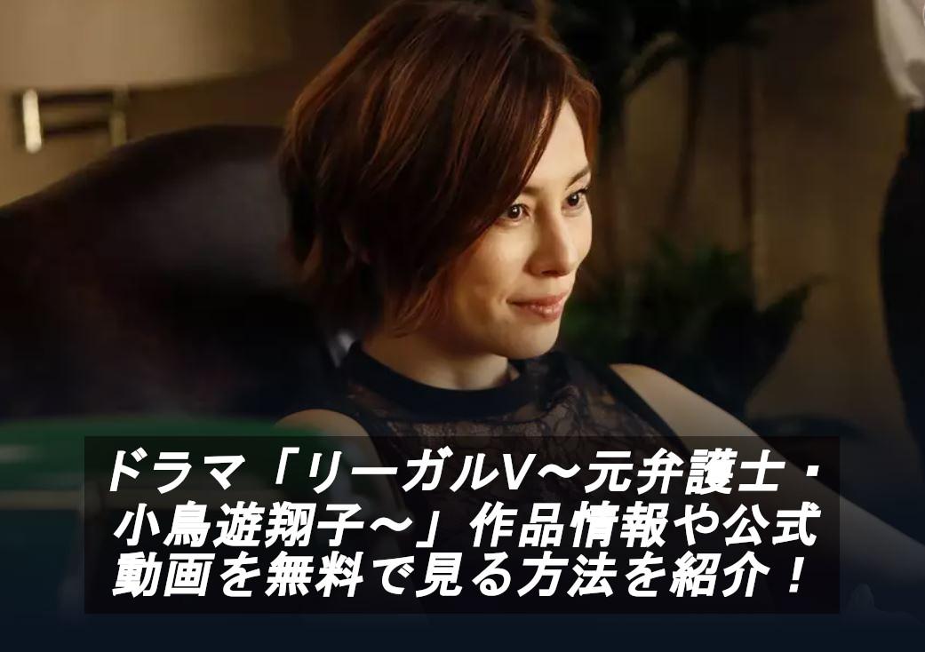 ドラマ「リーガルV~元弁護士・小鳥遊翔子~」
